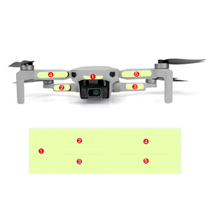 Image 2 - 2pcs פלורסנט מדבקה עבור Dji Mavic מיני זוהר מדבקות לילה אור Drone דקור Mavic מיני מדבקת אבזרים
