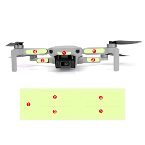 Image 2 - 2pcs Fluorescent Sticker for Dji Mavic Mini Luminous Decals Night Light Drone Decor Mavic Mini Sticker Accessories