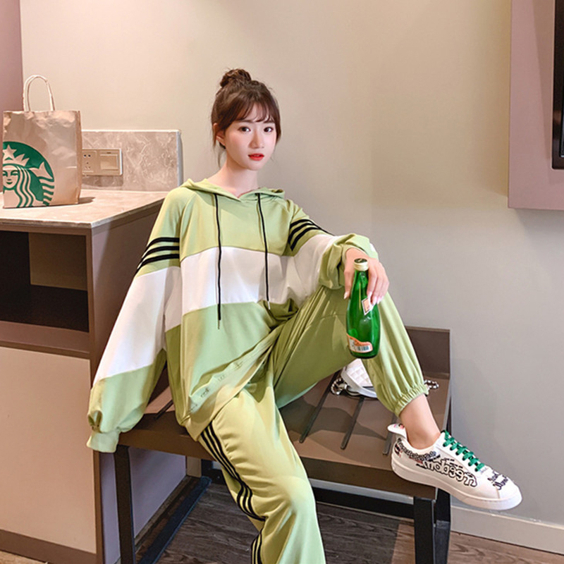 Dresy Women Tracksuit Two Piece Pants Set Korean Clothes Hat Outfit Sweatpants Sport Ensemble Femme Lounge Wear Ropa Mujer 2020