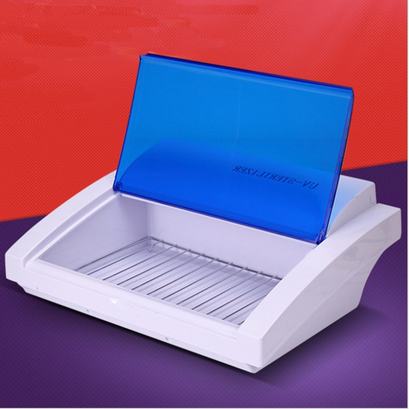 EU Plug UV Sterilizer Machine Bevel Disinfection Cabinet Manicure Disinfection Disinfecting Box Professional Cleaning Tool