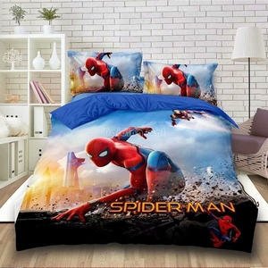 Cartoon Spiderman Bedding Set