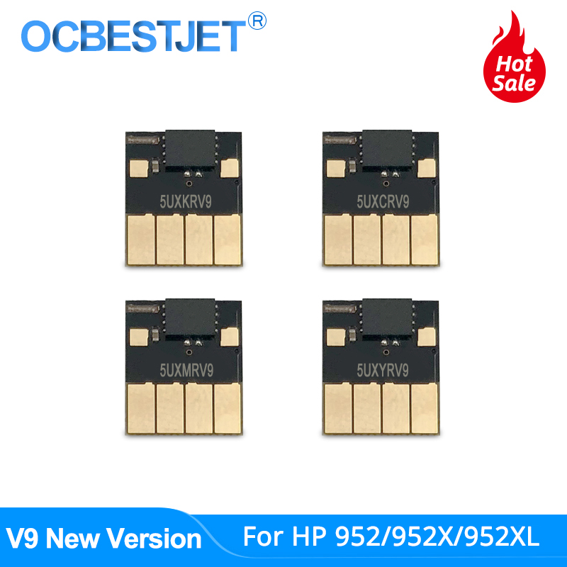 V9 New 952 ARC Chip For HP 952 <font><b>952XL</b></font> Auto Reset Chip For HP Officejet Pro 7740 8210 8702 8710 8720 8725 8730 8740 Permanent Chip image