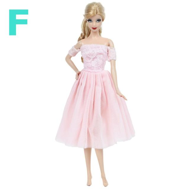 Mix Handmade Doll Dress  Doll Wedding Party Bridal Princess Gown Clothes SLFDES