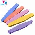 5 шт./лот разноцветные пилки для ногтей Губка Алмазная пилка для ногтей моющаяся известь Unghie 100/180 лак для ногтей буферный блок поставщики