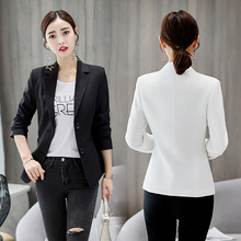 Samgpilee Ladies Blazer Long Sleeve Blaser Women Suit jacket Female Feminine