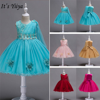 It's YiiYa Flower Girl Dresses Girl 5 Colors Sleeveless O-Neck Floor Length Elegant Dresses Kids Party Ball Gowns 150