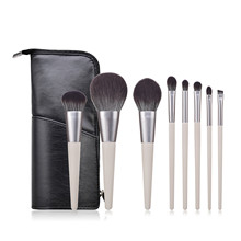 New 8pcs Make Up Brushes Set With Bag Powder Blush Eyeshadow Concealer Lip Eye Foundation Makeup Brush Cosmetic Beauty Tools