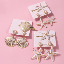 Bisuteria Parure Bijoux Femme Necklace Set 2019 New Shell Jewelry Hairpins Earrings Set For Women Color Hair Clips Accessories  цены
