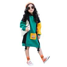 بلوزات شتوية دافئة قطنية ملونة جديدة للفتيات مع قلنسوة من المخمل للفتيات المراهقات تي شيرت للأطفال ثخن ملابس أطفال