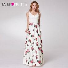 우아한 꽃 프린트 댄스 파티 드레스 적 예쁜 a 라인 v 넥 민소매 간단한 캐주얼 저녁 파티 가운 Vestidos Formales