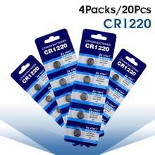 Bateria cr1220 br1220 dl1220 ecr1220 lm1220 3v batteria da pilha da moeda de 20 pces/4 blocos 3v do botão do lítio para computadores do controle remoto