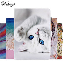 "Cover For Huawei Mediapad M6 10.8 inch SCM-W09 SCM-AL09 SCM-AL00 Cartoon Cat Leather Case For Huawei M6 Pro 10.8"" Covers Cases(China)"