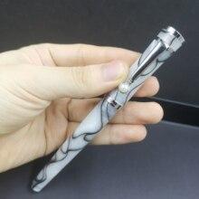 Fuliwen 2037 White With Black Swirl Fountain Pen Converter Pen Acrylic Pen Fine/Medium Nib Optional Each One Are Different