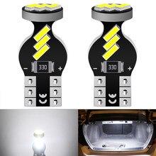 2 pçs w5w t10 led canbus lâmpada 2825 luz de estacionamento do carro 12v para ford focus 2 3 fiesta fusão ranger kuga s max mondeo mk4 4 mustang