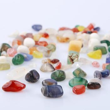 1 Bag 100g Colorful Mixed Irregular Shape Tumbled Stones Rock Gem Beads Chips Quartz Crystal Stones Decorative DIY Materials image