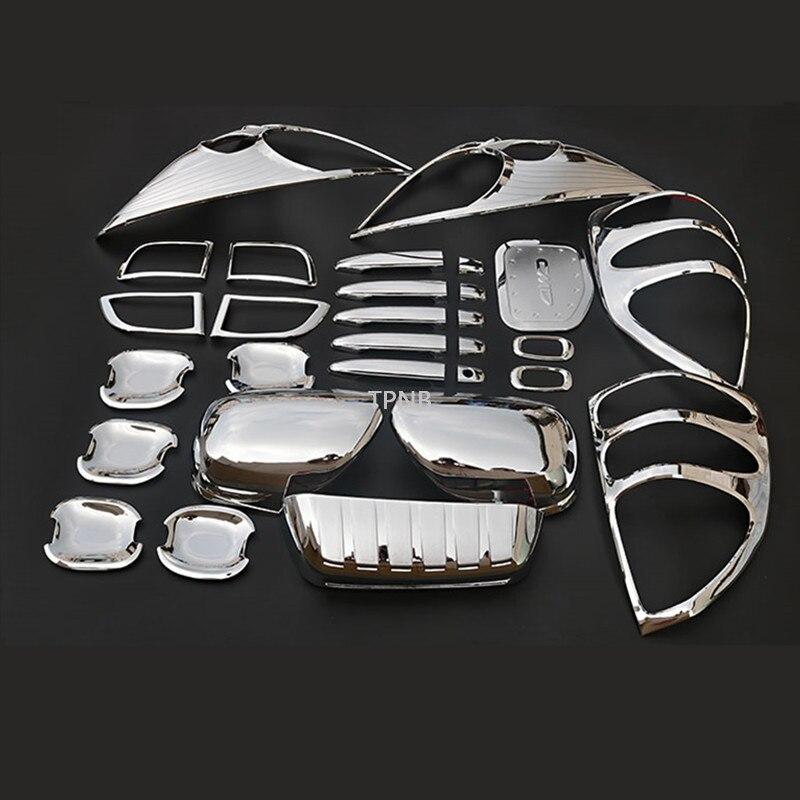 Для Toyota Land Cruiser Prado 120 J12 2003 2004 2005 2006 2007 2008 2009 Автомобильная ABS Хромированная внешняя Накладка аксессуары