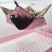 Pet Birds Подвеска для хомяка домик для маленьких животных хлопковый гамак кровать гнездо двойной слой для крыс белок теплый дом спальный мешок C42