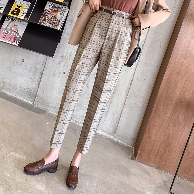 Casual Plaid Trousers 5