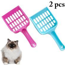 2PCS Kitten Litter Scoops Net Type Durable Plastic Cat Poop Scoop Pet Litter Shovel For