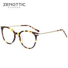 Zenottic Retrò Rotonda Occhiali da Vista Cornice per Le Donne Occhiali Ottici Telaio Donne Miopia Ipermetropia Occhiali 2019 BT2305