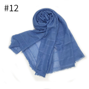 Muslim Cotton Hijab Scarf 2020 Linen Solid Women Solid Color Headband Shawls And Wraps Hijab Fashion Female Long Head Scarves