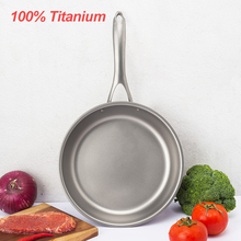 Titanium-Pan Gas-Induction Cooking Uncoated Steak Household Omelet 100%Pure