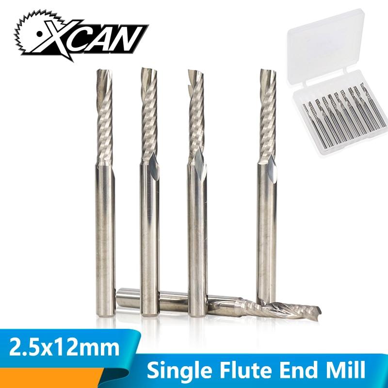 5PCS//Pack 3A 4mmSHK Single Flute Spiral Router Bit Carbide CNC Endmill Cutter