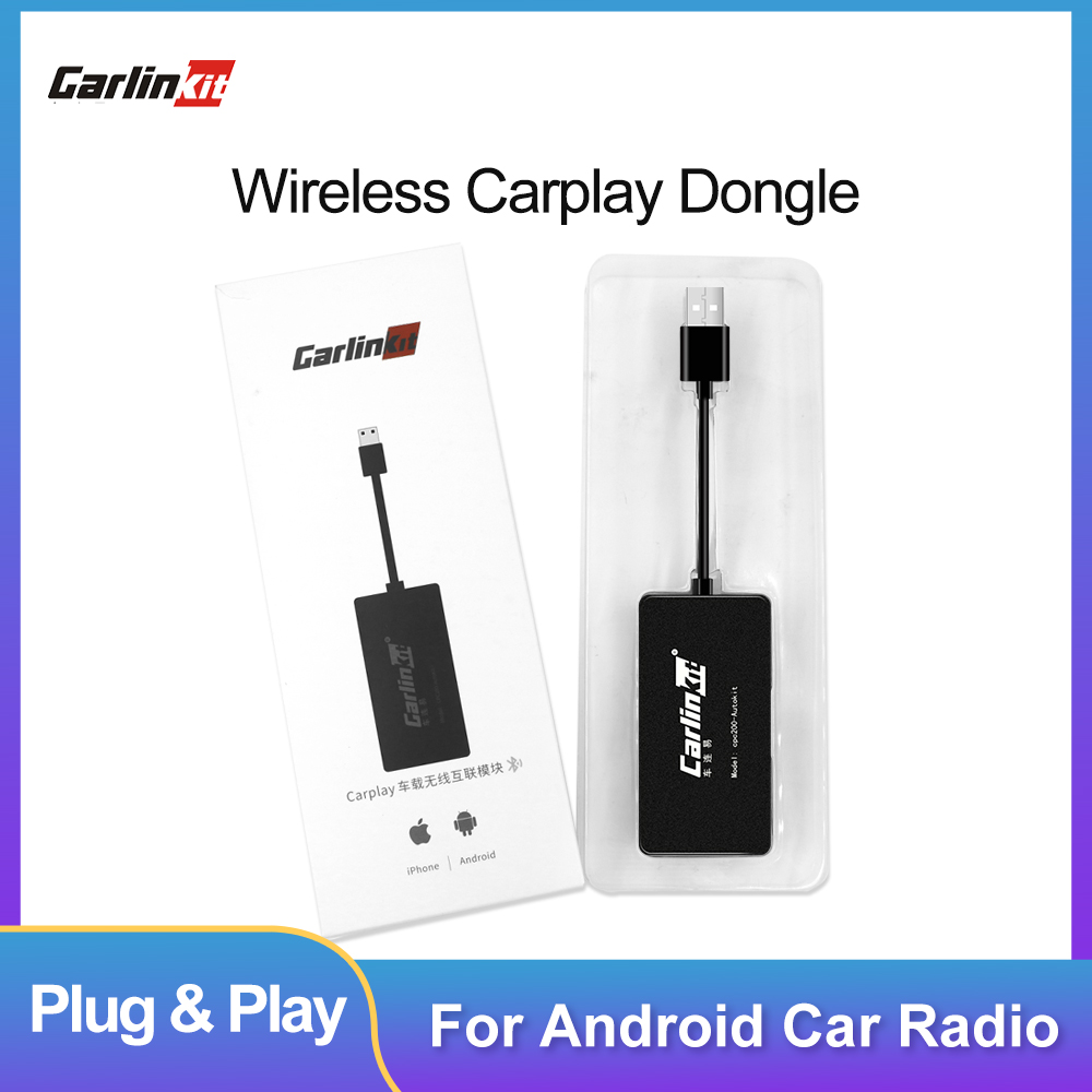 Carlinkit Android Auto Dongle Apple Wireless CarPlay Dongle USB Smart Link For Android Navigation Player Mirrorlink  IOS 13