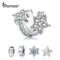 Charme original ajuste pulseira 925 prata esterlina grânulo galáxia estrela a céu aberto com contas do mundo jóias fazendo berloque