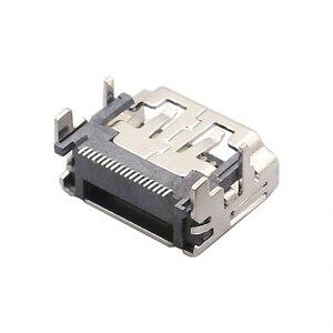 Port HDMI 19 broches, 25 pièces, en cuivre, prise femelle, SMT 4 DIP pied