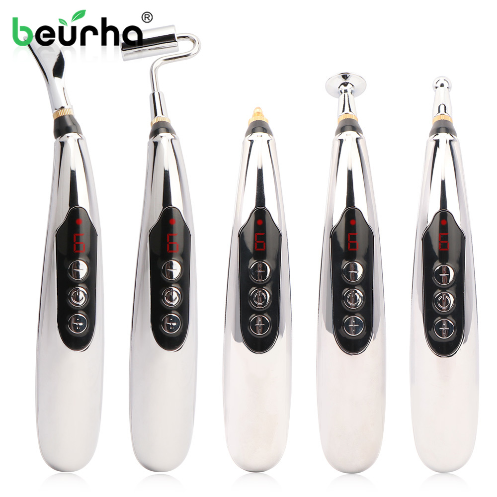 Electronic Acupuncture Pen USB Charging Meridians Laser Acupuncture Machine Magnet Therapy Meridian Energy Pen Face Lift Tools
