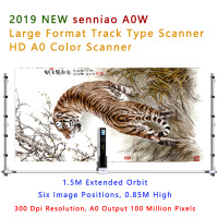 2019 New senniao A0W Track scanner Large Format HD Color image scanning