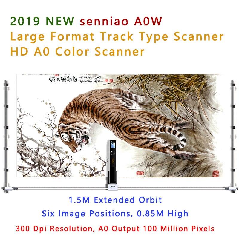 2019 nova senniao a0w faixa scanner de digitalizacao de imagem a cores de grande formato hd