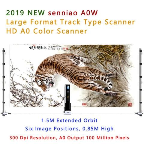 2019 nova senniao a0w faixa scanner de digitalizacao de imagem a cores de grande formato
