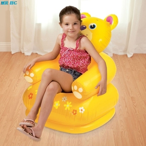 Image 5 - Cute Portable Cartoon Animal inflatable sofa Children Seat Tiger bear For Kid 3 8 Years Old Lovely Kids PVC Chairs Baby Seats