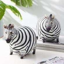 Zebra Standbeeld Animal Figurine Creativiteit Stijl Nordic Woonaccessoires Home Decor Huis Beeldjes Kantoor Decoratie Gift