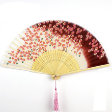 Folding Fan Vintage Lady Pocket Ethnic Crafts  Wedding Gifts Chinese Party Supplies Summer Silk Bamboo Cooling