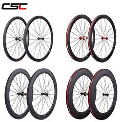 Roues en carbone Super léger 38mm 50mm 60mm 88mm pneu tubulaire 700C chinois vélo de route carbone roues R13 roulements en céramique moyeu