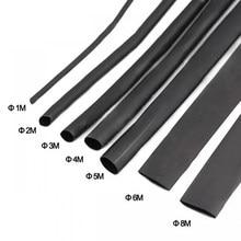 Kit de tubos termo retráteis, 8 metros/1/2/3/4/5/6/7/tubos termo pretos encolhíveis, 8mm, 2:1, manga encolhedora, diy, kit de conector de fio