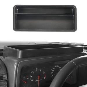 Image 3 - صندوق تخزين لوحة القيادة لسيارة جيب رانجلر TJ 1997 2006 داش حامل هاتف درج منظم