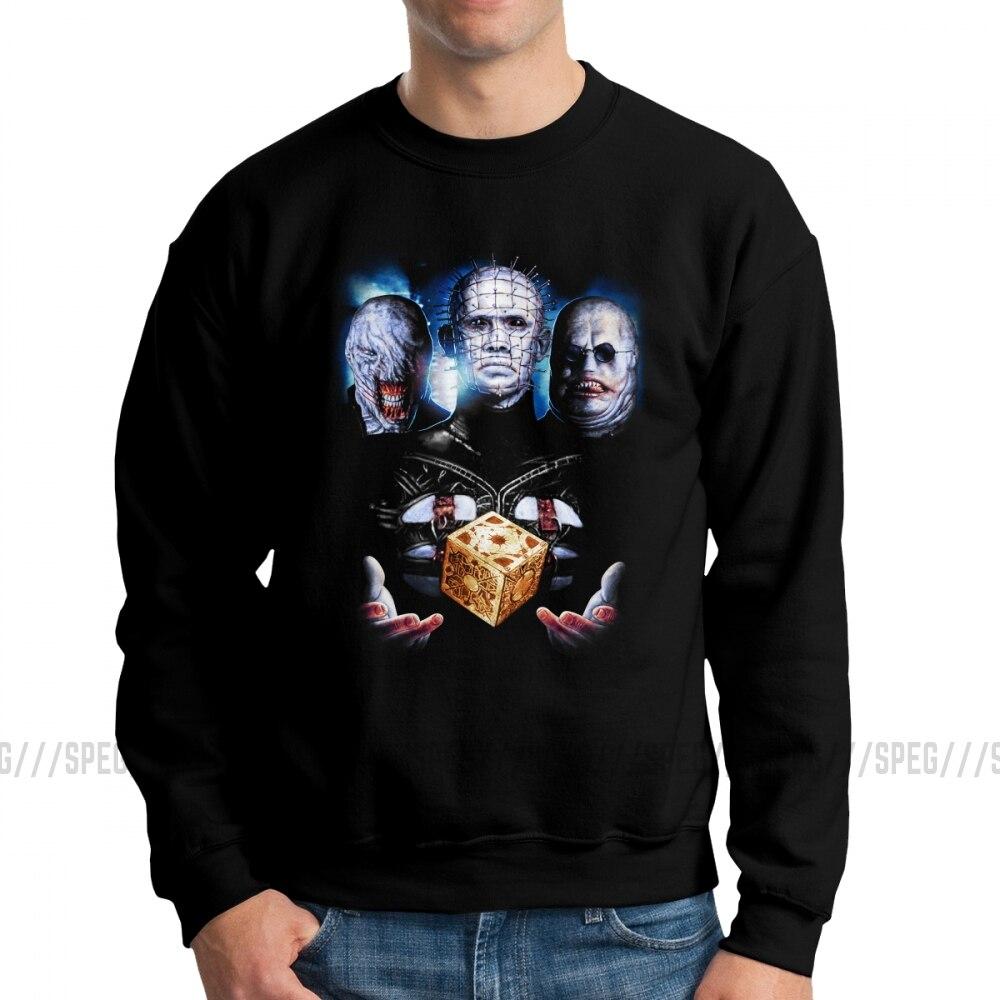 Men's Hellraiser Pinhead Horror Such Sights Hoodies Crazy Sweatshirts Pure Cotton Graphic Pullover Apparel
