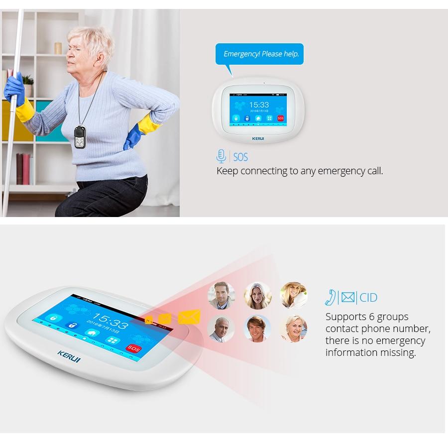 2019 KERUI K52 Smart Home Alarm System 4,3 Zoll TFT Farbe Display Fernbedienung Touch Screen WIFI GSM Alarm Sicherheit kit