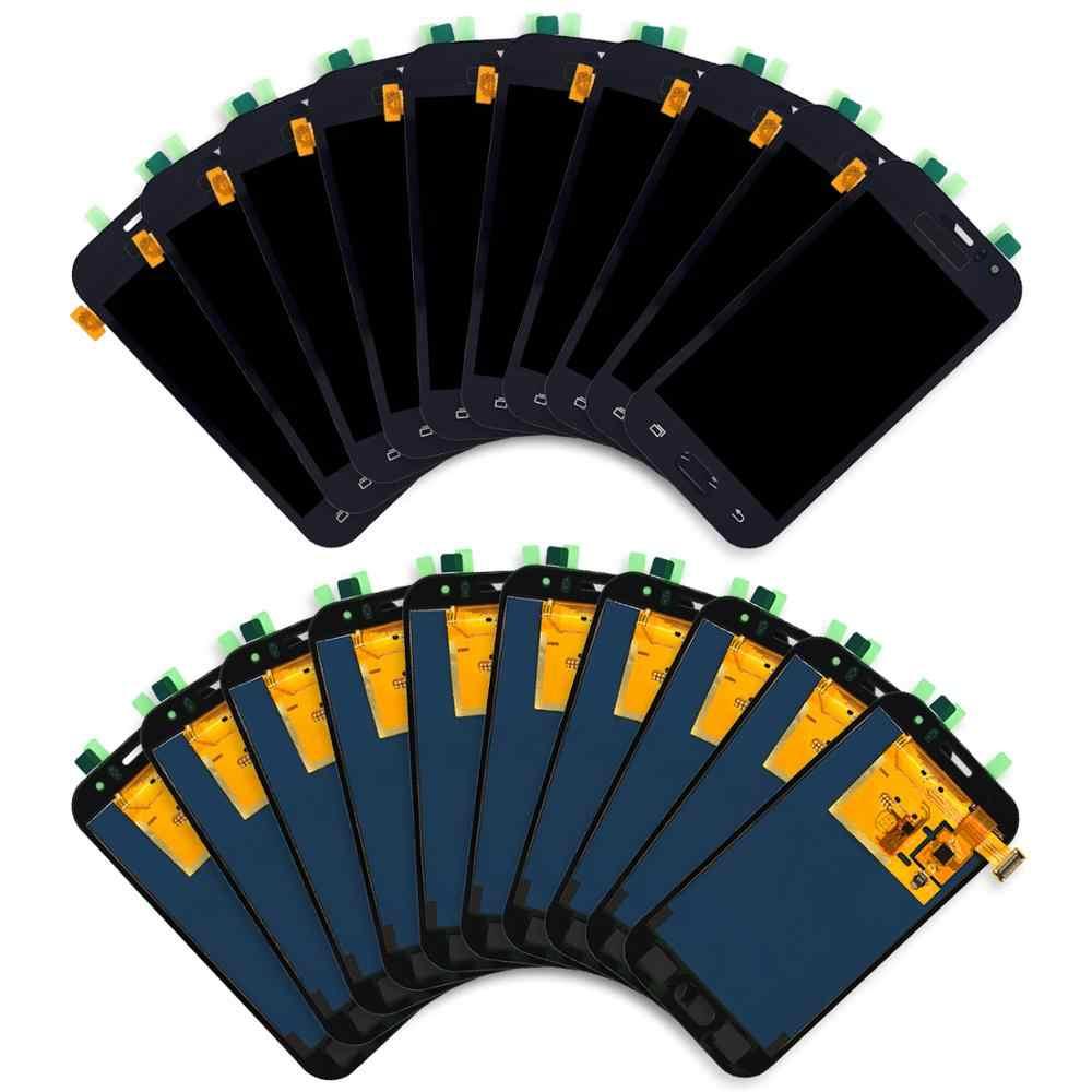 5 قطع شاشات الكريستال السائل لسامسونج غالاكسي J1 Ace J110 lcd SM-J110F J110H شاشة الكريستال السائل مع مجموعة المحولات الرقمية لشاشة تعمل بلمس استبدال
