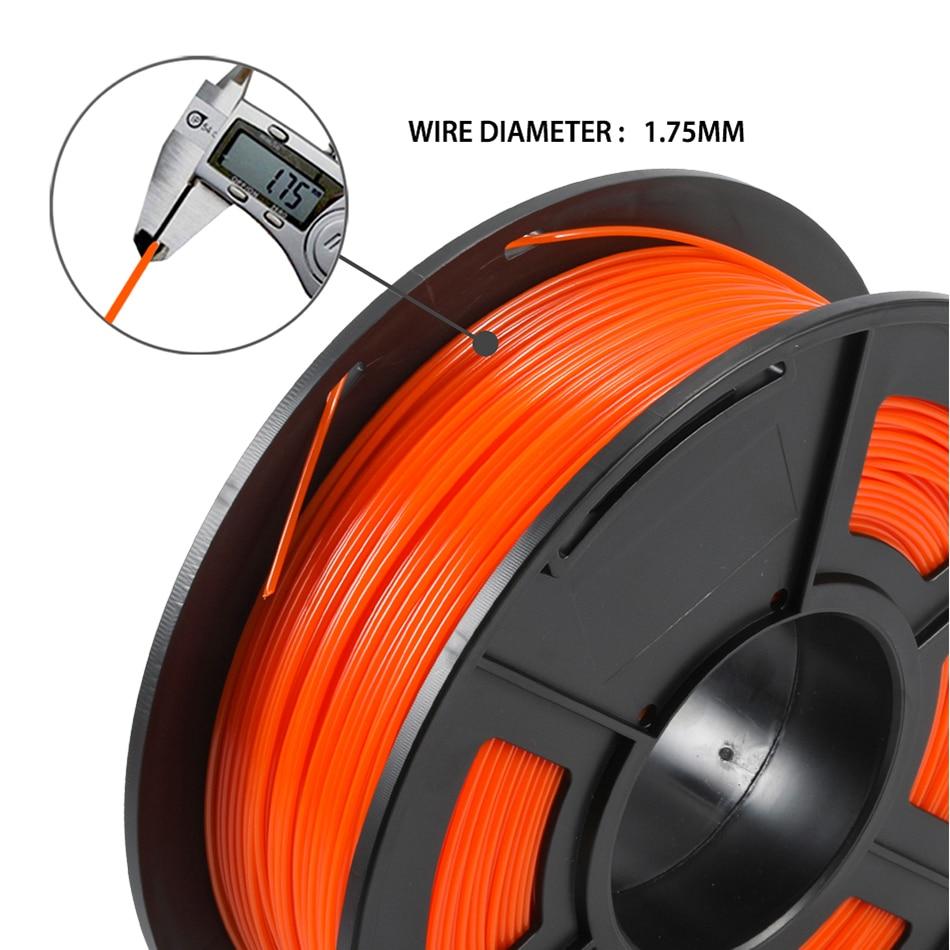 cheapest 1 75mm 3D Printer Filament PETG 1KG With Spool SUNLU  Ordinary Brand PETG Filament 100percent No Bubblle 395M roll