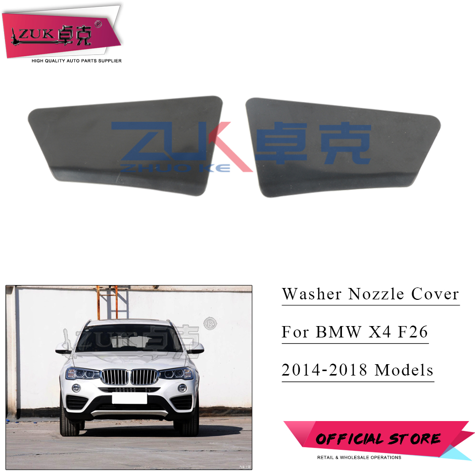 ZUK 2PCS For BMW X4 F26 20d 20i 28i 30 35 Left Right Headlight Washer Nozzle Cover Spray Case Cap 2014 2015 2016 2017 2018