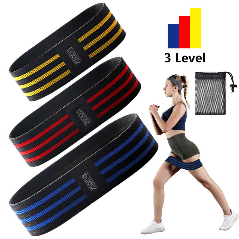 Non Slip Booty Workout Hip Resistance Band pour jambes et fessiers exercices 90 cm