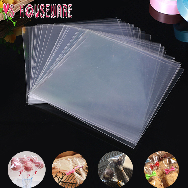 100pcs/Bag Transparent Opp Plastic Bags For Candy Lollipop Cookie Packaging Cellophane Bag Wedding Party Gift Bag