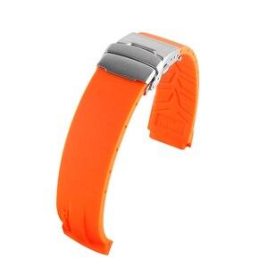 Image 5 - Sport Siliconen Horloge Bands Voor Tissot T048 T048.417 Horloge Horlogebandje T Ras T Sport Horlogeband Armband Waterdicht Zachte rubber