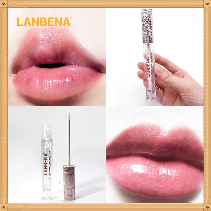 นาฬิกา LANBENA รุ่นปรับปรุง Lip Plumper เซรั่ม Lip Mask ลดริ้วรอยเพิ่ม Lip ความยืดหยุ่นต่อต้านริ้วรอย Moisturizing Lip Care
