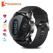 SYSOTORYU T3pro Smart Orologio Dual Time Zone Uomini di Sport Impermeabile Smartwatch di Frequenza Cardiaca Bluetooth Activity Tracker per IOS Android